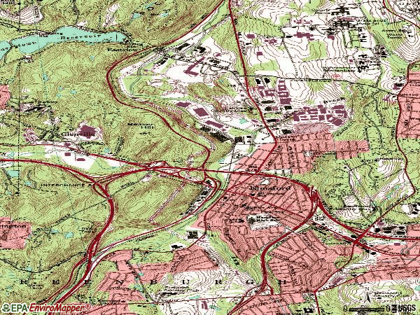 Zip code 10523 topographic map