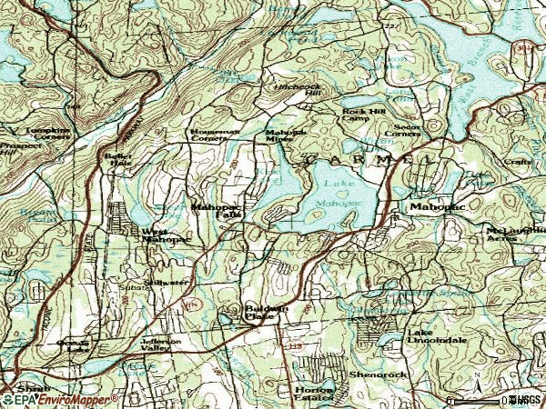 Zip code 10541 topographic map