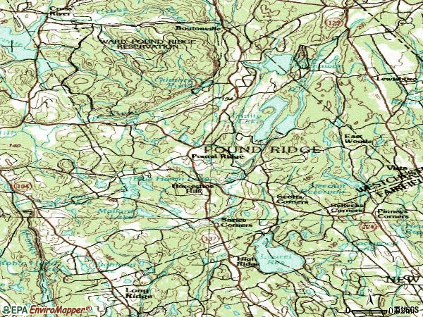 Zip code 10576 topographic map