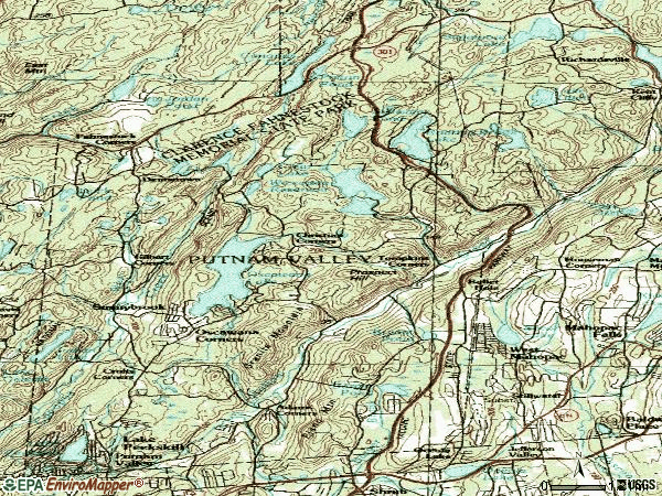 Zip code 10579 topographic map