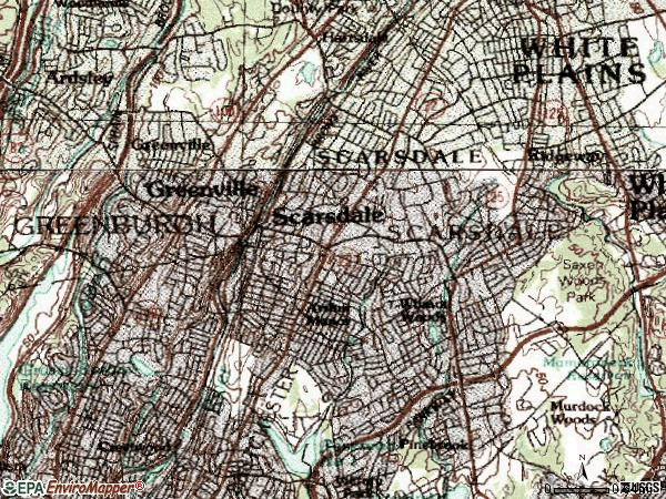 Zip code 10583 topographic map