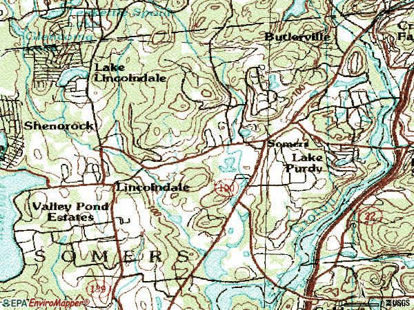 Zip code 10589 topographic map
