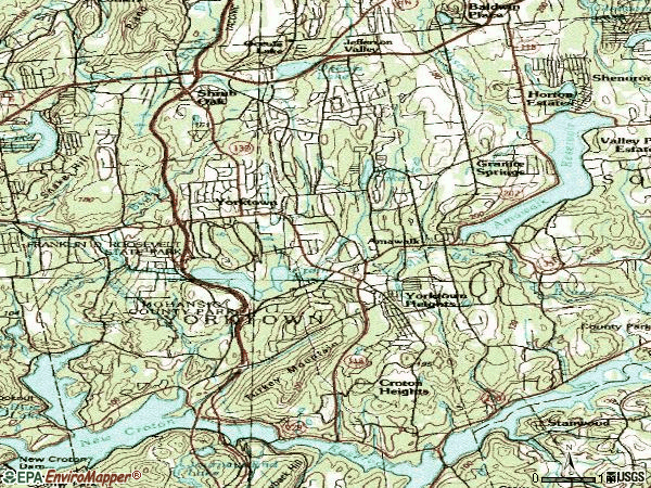 Zip code 10598 topographic map