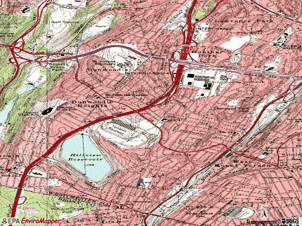 Zip code 10704 topographic map