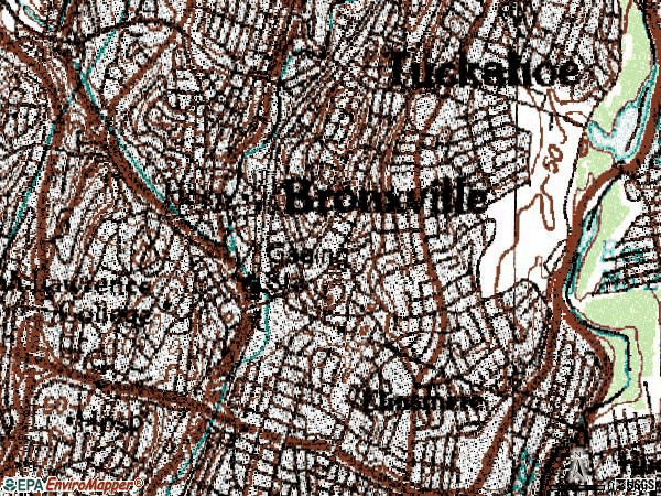 Zip code 10708 topographic map