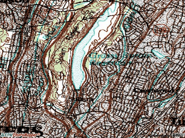 Zip code 10710 topographic map