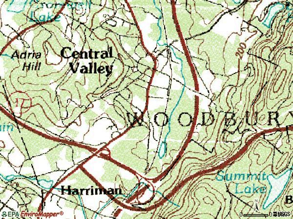 Zip code 10917 topographic map
