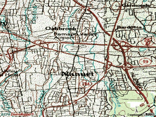 Zip code 10954 topographic map