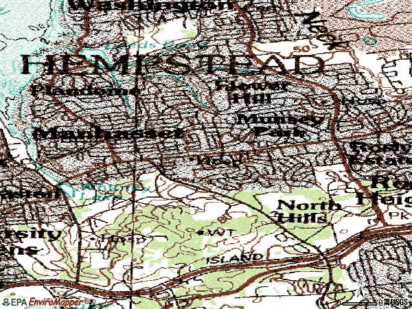Zip code 11030 topographic map
