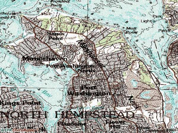 Zip code 11050 topographic map