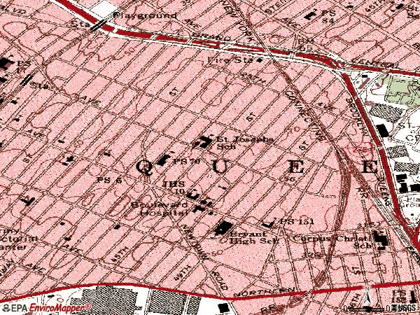 Zip code 11103 topographic map