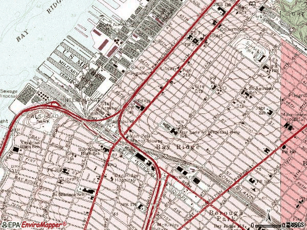 Zip code 11220 topographic map