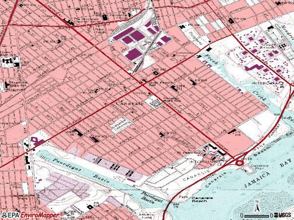 Zip code 11236 topographic map