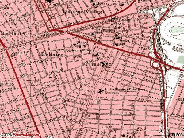 Zip code 11429 topographic map