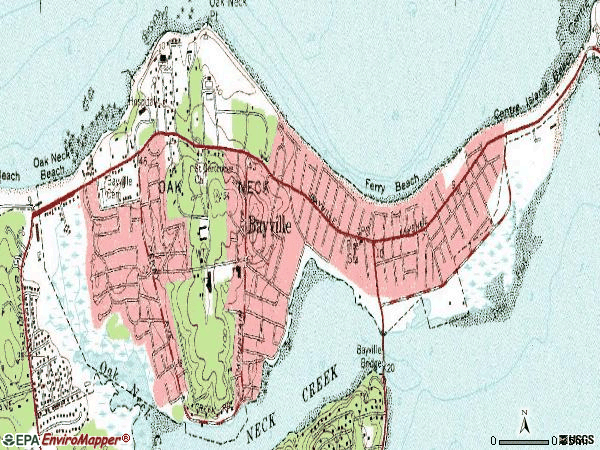 Zip code 11709 topographic map