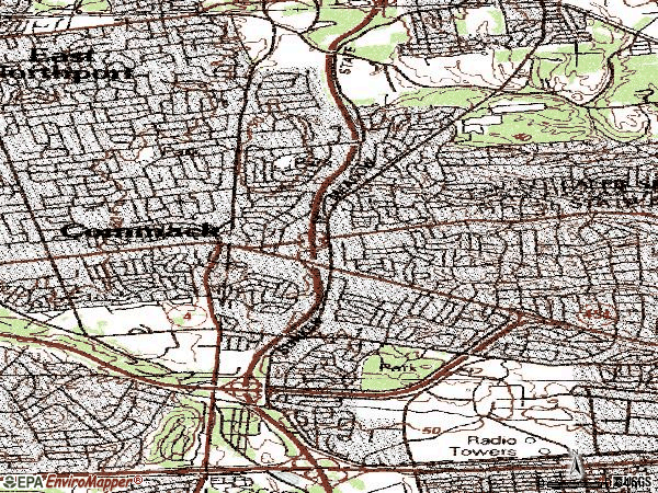 Zip code 11725 topographic map