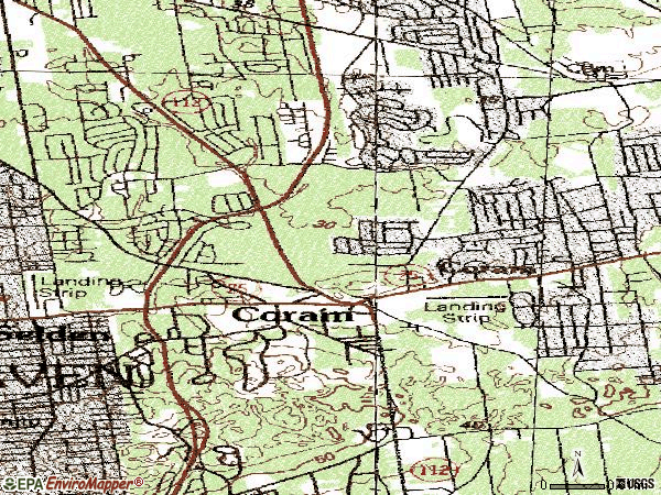 Zip code 11727 topographic map