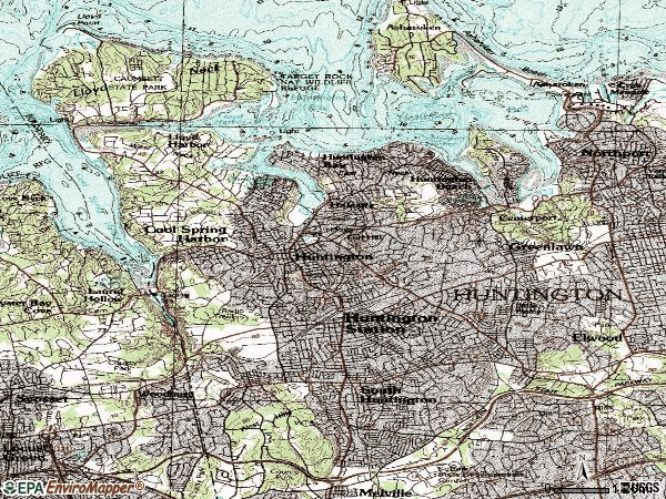 Zip code 11743 topographic map