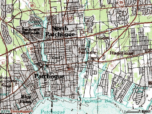 Zip code 11772 topographic map