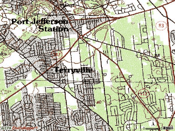 Zip code 11776 topographic map