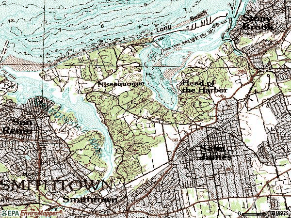 Zip code 11780 topographic map