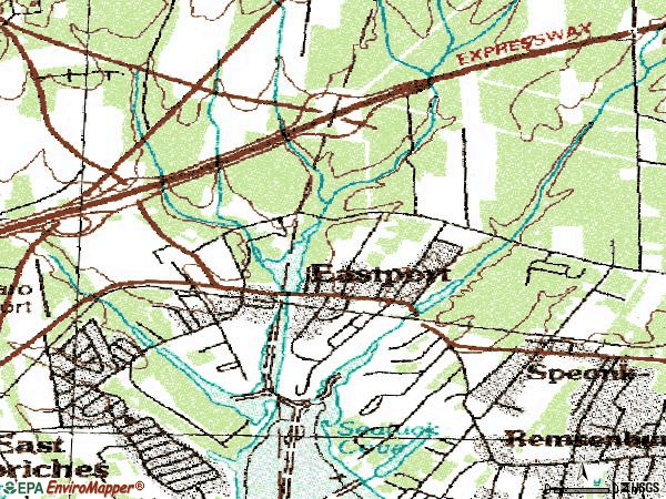 Zip code 11941 topographic map