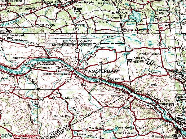 Zip code 12010 topographic map