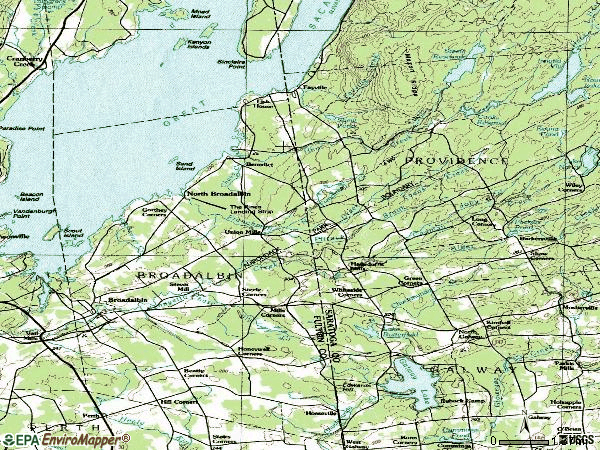 Zip code 12025 topographic map