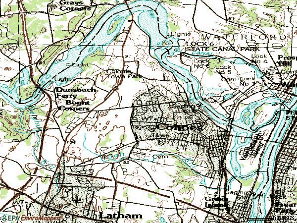 Zip code 12047 topographic map