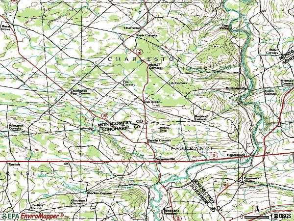 Zip code 12066 topographic map