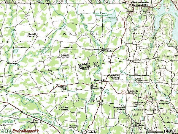 Zip code 12083 topographic map