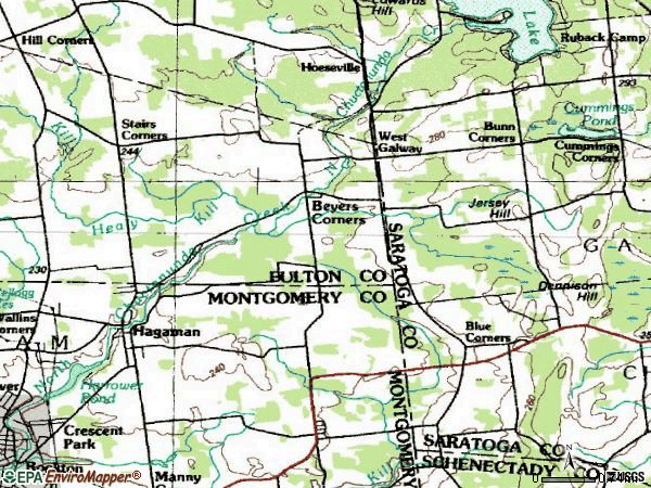 Zip code 12086 topographic map