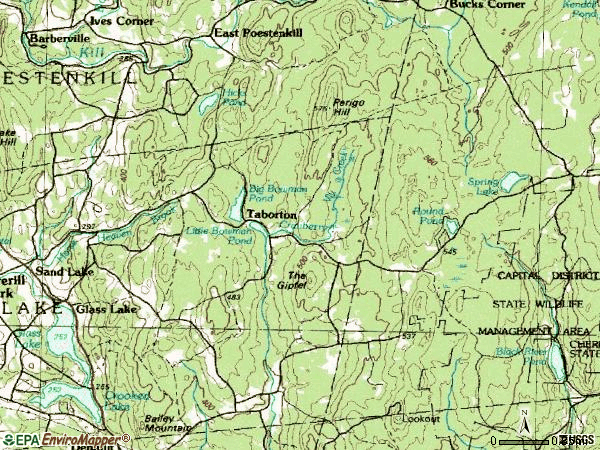 Zip code 12153 topographic map