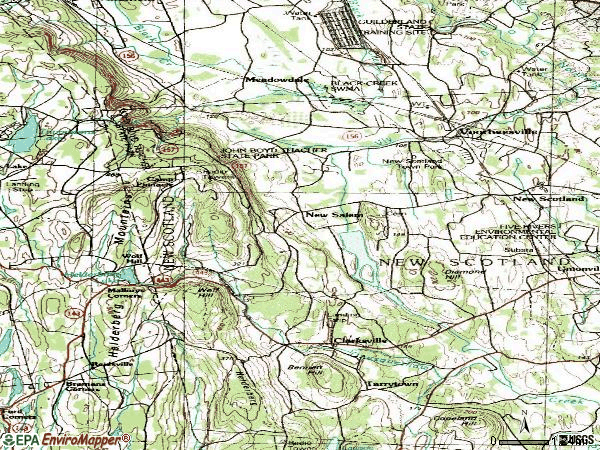 Zip code 12186 topographic map