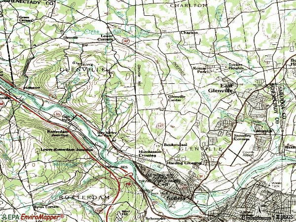 Zip code 12302 topographic map
