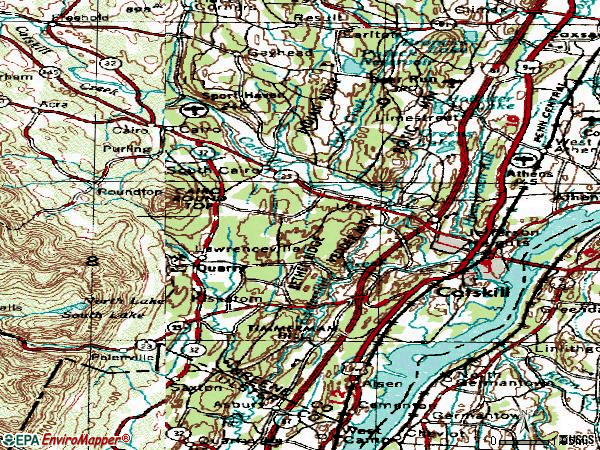 Zip code 12414 topographic map