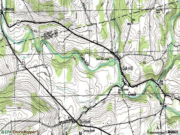 Zip code 12460 topographic map