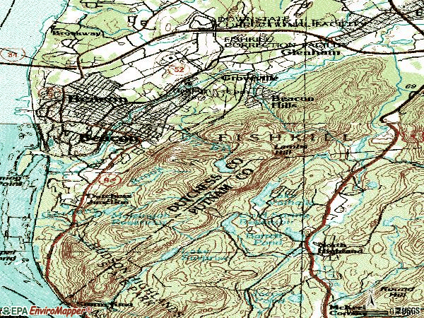 Zip code 12508 topographic map