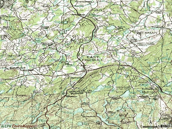 Zip code 12533 topographic map