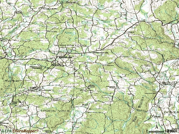 Zip code 12545 topographic map