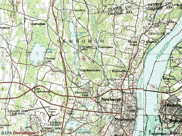 Zip code 12550 topographic map