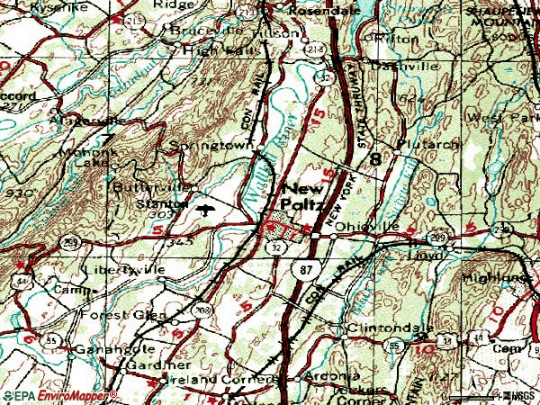 Zip code 12561 topographic map