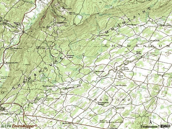 Zip code 12566 topographic map