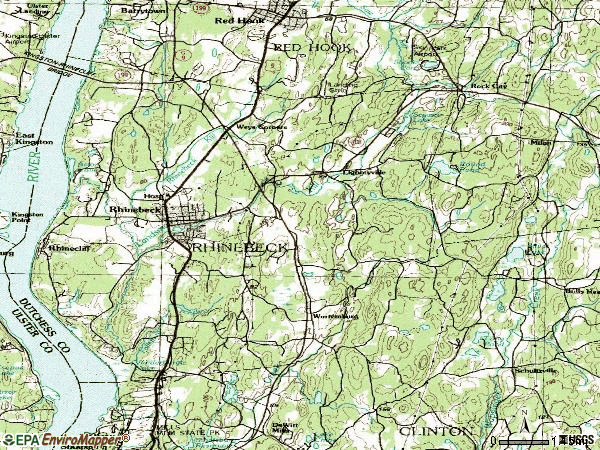 Zip code 12572 topographic map