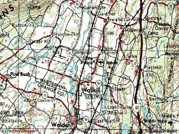 Zip code 12589 topographic map