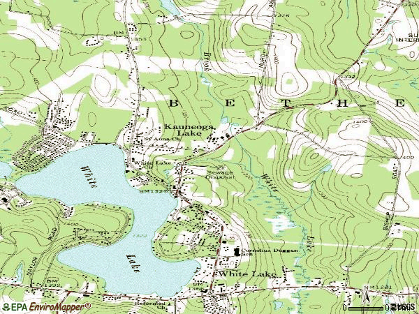 Zip code 12749 topographic map