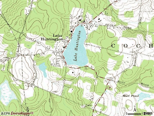 Zip code 12754 topographic map
