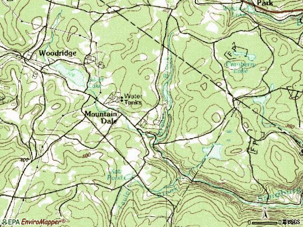 Zip code 12763 topographic map