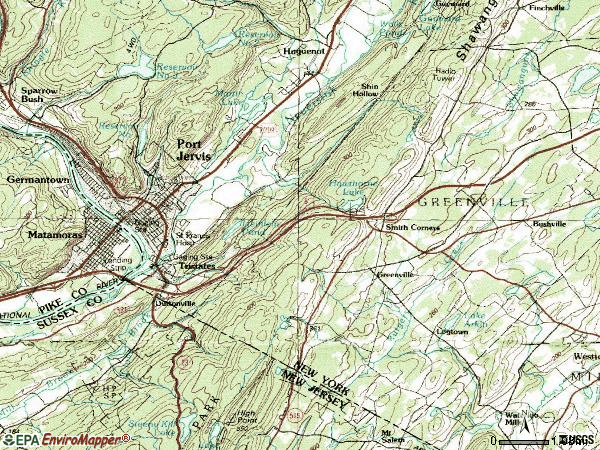 Zip code 12771 topographic map
