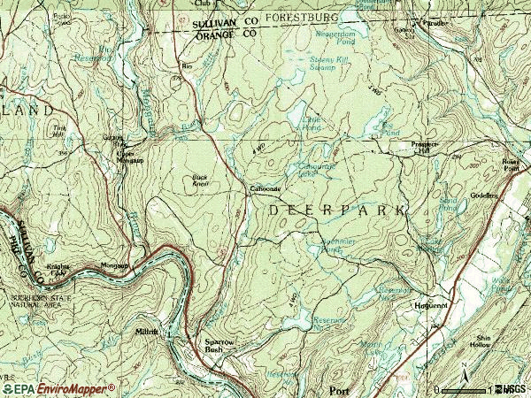 Zip code 12780 topographic map